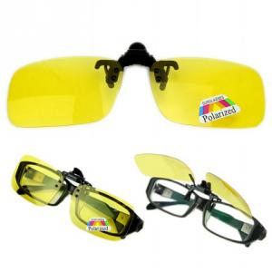 Kawachi K207 Yellow Polarized Clip On Driving Night Vision Sunglasses