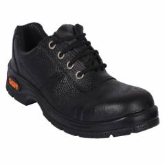 Tiger Lorex Steel Toe PU Sole Black Safety Shoes, Size: 8