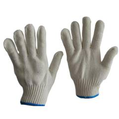 Sai Safety 50g White Cotton Knitted Gloves (Pack of 100)