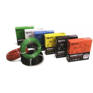 Fortis 1.0 sqmm Single Core 90m Green HRFR PVC Industrial Cables, HF1430GN