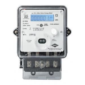 HPL 10-60A Single Phase LCD Energy Meter with Battery Backup, SPPB1520110E1