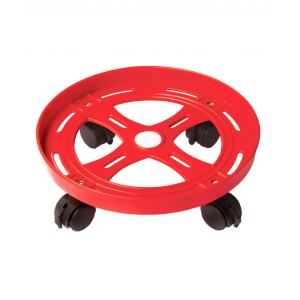Abyss ABDY-0416 Virgin Grade Plastic Red Gas Cylinder Trolley