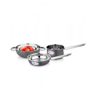 Airan 3 Pieces Stainless Steel Induction Bottom Cookware Set, APCK1596