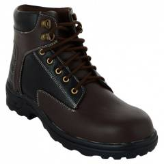Da-Dhichi RA-06 Steel Toe Chocolate Brown Safety Boots, Size: 7