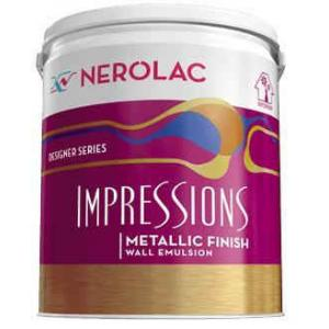 Nerolac Impressions Metallic Paint, Silver-200ml