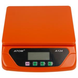 Atom A-124 Red Multi Purpose Digital Kitchen Weighing Scale, Capacity: 30 kg