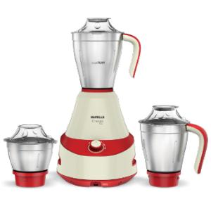 Havells Energia 500W 3 Jar White & Red Mixer Grinder
