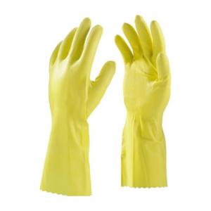 KT Yellow Rubber Hand Safety Gloves (Pack of 10)