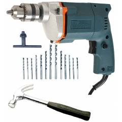 Tiger TGP10 10mm Electric Drill Machine with 13 HSS Bits & 1 Hammer