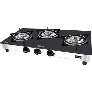 Maharaja Whiteline Rumena 3 Burner Gas Cook Top, GS-113