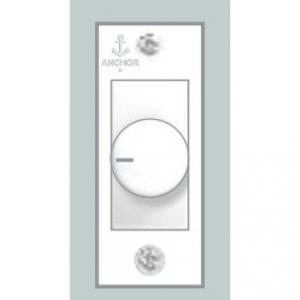 Anchor Penta Mini White 450W Switch Type Dimmer Controller, 38648
