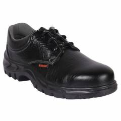 Karam FS 02 Steel Toe Black Safety Shoes, Size: 6