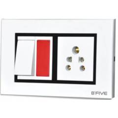 B-Five Royal 8 Module Hz. Cover Plate, B-067R (Pack of 10)