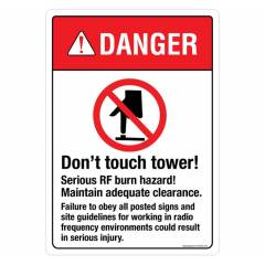 Safety Sign Store Danger: Do Not touch Tower Sign Board, SS635-A4AL-01