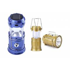 Homepro Combo of Blue & Golden Solar Rechargeable Lantern
