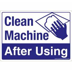 Safety Sign Store Clean Machine After Using Sign Board, ST705-A7PC-01, (Pack of 10)