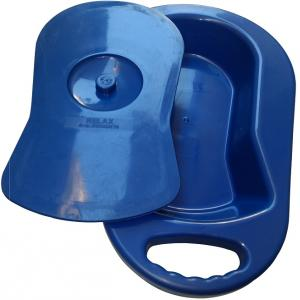 Maxlife Blue Adult Bed Pan with Cover