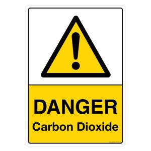 Safety Sign Store Danger: Carbon dioxide Sign Board, CW109-A4AL-01