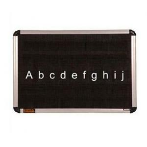 Asian Perforated Black Dotted Board with 100 Alphabetic Letters, Size: 36 mm