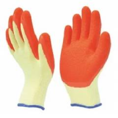Marvel L-101 Orange & Yellow Safety Gloves, Size: XL (Pack of 10 Pairs)