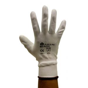 Marvel PU-101 White Safety Gloves, Size: M (Pack of 10 Pairs)