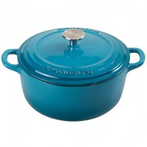 Wonderchef 2.8 Litres Ferro Cast Iron Blue Colour Casserole with Lid