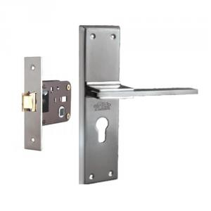 Plaza Mustang Stainless Steel Finish Handle with 200mm Baby Latch Keyless Lock