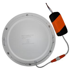 LumoGen 18W Round Cool White Slim LED Panel Light