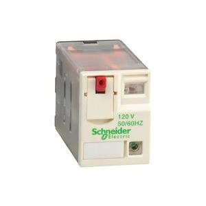 Schneider 12A 230VAC Plug in Miniature Relay With LED, RXM2AB2P7