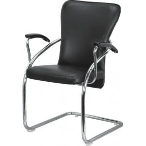 Atharvo 110 Black Medium Chrome Frame Visitor Chair