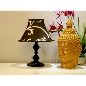 Tucasa Table Lamp with Poly Silk Shade, LG-331, Weight: 550 g