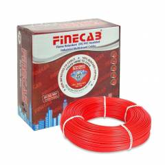 Finecab 6.0 Sq mm Red PVC Insulated Single Core FR Wire, Length: 90 m