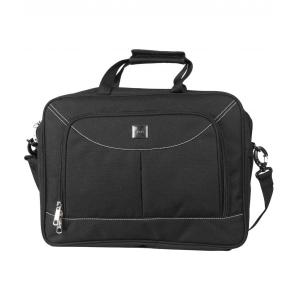 Space Nylon Black Office Document Bag, LTB 105