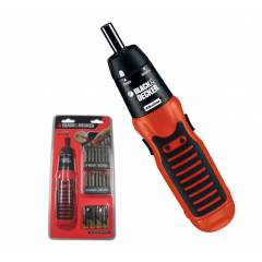 Black+Decker 6V Cordless Alkaline Battery Powered Screwdriver Set, A7073