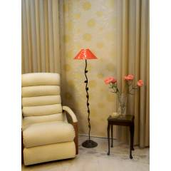 Tucasa Leaf Floor Lamp with Printed Shade, LG-593, Weight: 1100 g