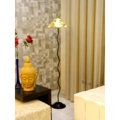 Tucasa Floor Lamp with Printed Shade, LG-611, Weight: 1100 g