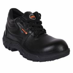 Mangla Swatch Steel Toe Black Safety Shoes, Size: 6