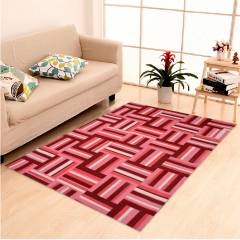 IWS Pink Cotton Printed Designer Carpet with Latex Backing, CRT203