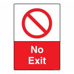 Safety Sign Store No Exit Sign Board, PB309-A3PC-01