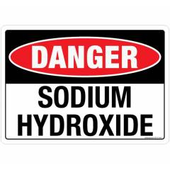 Safety Sign Store Danger: Sodium Hydroxide Sign Board, SS117-A5PC-01