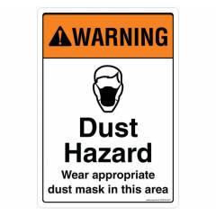 Safety Sign Store Warning: Dust Hazard Sign Board, SS838-A3PC-01