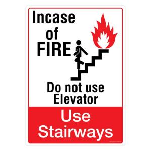 Safety Sign Store In Case of Fire Sign Board, PS108-A4V-01