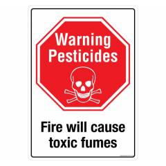 Buy Safety Sign Store Warning: Pesticides Sign Board, SS131