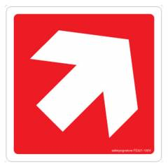 Safety Sign Store Arrow-Graphic Sign Board, FE521-105AL-01, (Pack of 5)