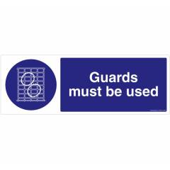 Safety Sign Store Guards must be Used Sign Board, FS635-1029PC-01