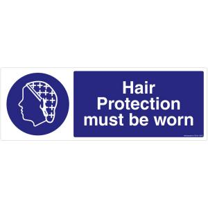 Safety Sign Store Hair Protection must be Worn Sign Board, FS643-2159AL-01