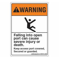 Safety Sign Store Falling Into Open Port Board, SS615-A8V-01 (Pack of 10)
