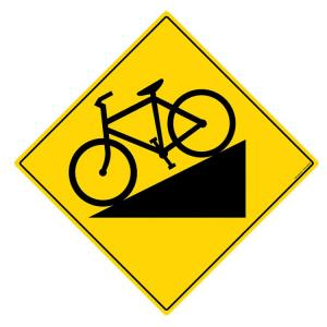 Safety Sign Store Caution: Road Slope Sign Board, TR810-600REF-01
