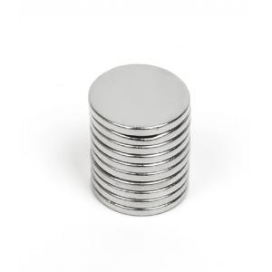 Neomag 77MININM16 N35-Ni Disc Shaped Silver Neodymium Magnet, Thickness: 1.5 mm (Pack of 10)