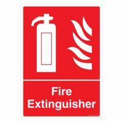 Safety Sign Store Fire Extinguisher Sign Board, GS207-A3PC-01